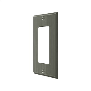 Switch Plate, Single Rocker - Antique Nickel