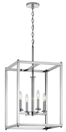 Crosby 4 Light Foyer Pendant Chrome
