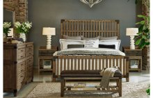Metalworks Wood Gate Bed, Queen 5/0
