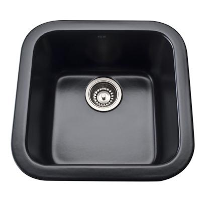 Matte Black Allia Fireclay Single Bowl Bar/Food Prep Sink