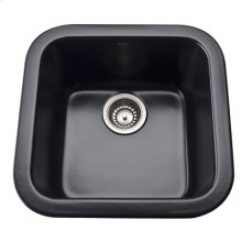 Matte Black Allia Fireclay Single Bowl Bar/Food Prep Sink