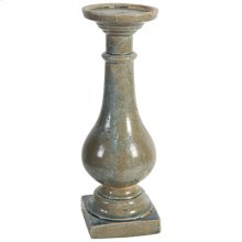 "67594-LBLU  D6.3x20"" Darcy Pillar Candle Holder 2EA/CTN"