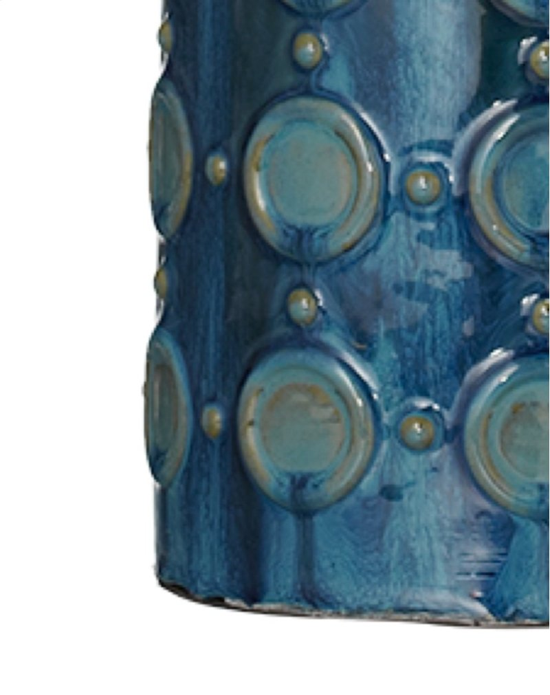 102860 In By Midwest Cbk Manhattan Ks Blue Circle Reactive 3 Way Switch Table Lamps Glaze Lamp 150w Max