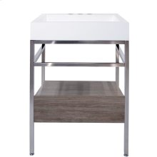 """23"""" x 19"""" free-standing console with drawer"""