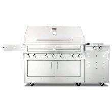 K1000HS Hybrid Fire Freestanding Grill with Side Burner