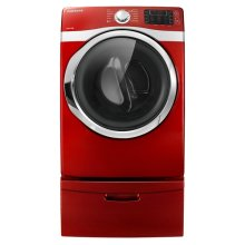 7.5 cu. ft. King-Size Capacity Gas Front-Load Dryer (Red)