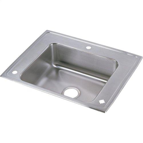 "Elkay Lustertone Classic Stainless Steel 28"" x 22"" x 5"", Single Bowl Drop-in Classroom ADA Sink"