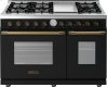 Range DECO 48'' Classic Black matte, Bronze 6 gas, griddle and 2 gas ovens
