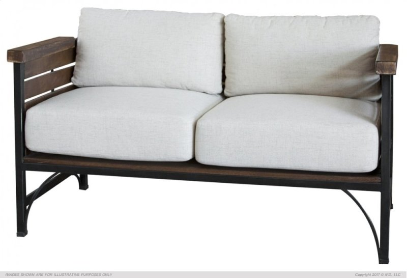 Love Seat W Arms Hidden