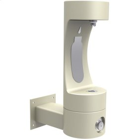Elkay Outdoor EZH2O Bottle Filling Station Wall Mount, Non-Filtered Non-Refrigerated Beige