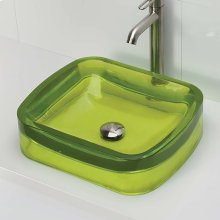 Lacee Rectangular Above-counter Bathroom Sink - Absinthe