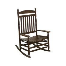 Slat Rocker in Antique Stone