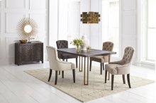 Gramercy Dark Chevron Dining Table