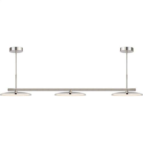 Visual Comfort PB5200PN Peter Bristol Dot LED 60 inch Polished Nickel Linear Pendant Ceiling Light, Large Triple