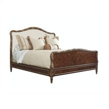 Bed With Upholstered Headboard (king)