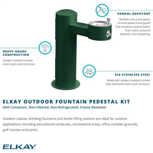 Elkay Outdoor Fountain Pedestal Non-Filtered, Non-Refrigerated Freeze Resistant White