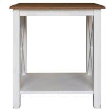 Lamp Table, Available in Hampton White or Hampton Grey Finish.