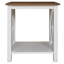 Lamp Table, Available in Hampton White or Hampton Grey Finish.