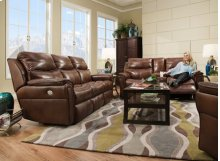 Allure Double Reclining Sofa with Power Headrest