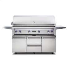 "54""W. Freestanding Grill with ProSear Burner and Rotisserie, Natural Gas"