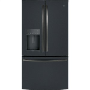 GE Profile™ Series ENERGY STAR® 22.2 Cu. Ft. Counter-Depth French-Door Refrigerator with Hands-Free AutoFill - BLACK SLATE