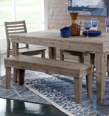 Be031552ajohn Thomas Furniture Aspen Bench Gray Wash Shuee S Great