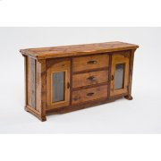 Mustang Canyon 3 Drawer 2 Door Server With Glass Doors Product Image