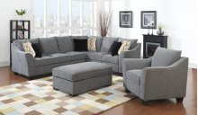 Emerald Home Calvina 2pc Sectional W/6 Pillows Grey U4242-03-11-12-k