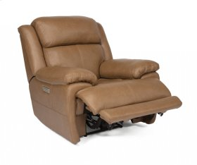 Elijah Leather Power Gliding Recliner with Power Headrest