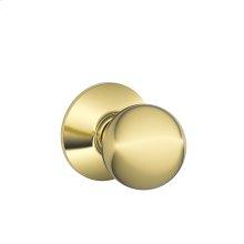 Orbit Knob Hall & Closet Lock - Bright Brass