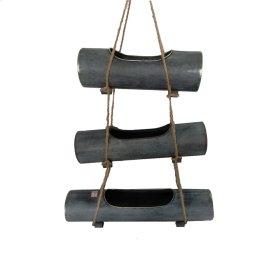 3 Hanging Metal Planters