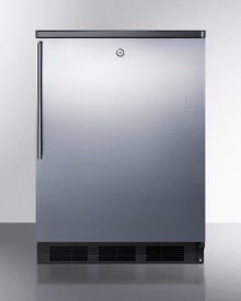 Commercially Listed Built-in Undercounter All-refrigerator for General Purpose Use, Auto Defrost W/ss Wrapped Door, Thin Handle, Lock, and Black Cabinet