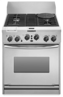 "30"" Width 4 Burners Stainless Steel Cooktop Dual Fuel True Convection Oven Architect® Series Freestanding"
