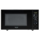 1.8 cu. ft. 1100W Sharp Black Carousel Countertop Microwave Product Image