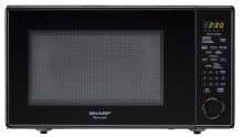 1.8 cu. ft. 1100W Sharp Black Carousel Countertop Microwave (R-559YK)