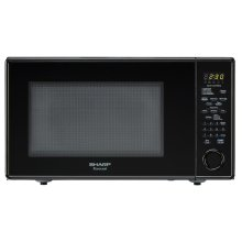 1.8 cu. ft. 1100W Sharp Black Carousel Countertop Microwave