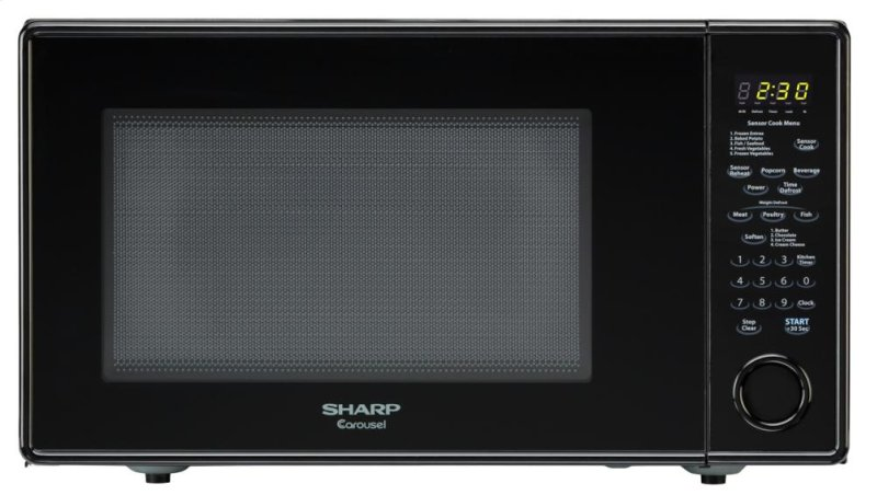 1 8 Cu Ft 1100w Sharp Black Carousel Countertop Microwave R 559yk