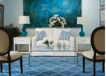 Quatrefoil Peacock Hand Knotted Rugs