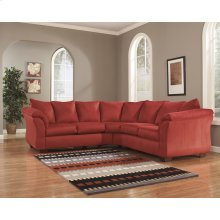 Signature Design by Ashley Darcy Sectional in Salsa Microfiber [FSD-1109SEC-RED-GG]