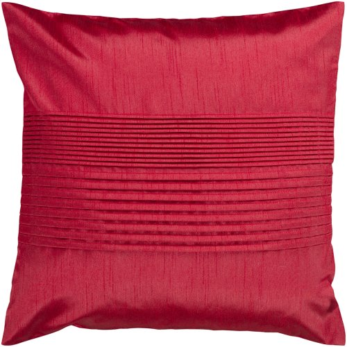 "Solid Pleated HH-025 18"" x 18"" Pillow Shell with Polyester Insert"