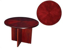 "TABLE,42"" ROUND, CHERRY CNTMPORARY"