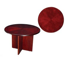 "TABLE,42"" ROUND, CHERRY CNTMPORARY"