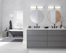 "Indeco 27"" LED Linear Vanity Light Polished Nickel"
