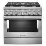 KitchenaidKitchenAid(R) 36'' Smart Commercial-Style Dual Fuel Range with 6 Burners - Stainless Steel