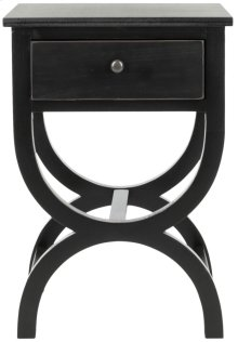 Maxine Accent Table With Storage Drawer - Black