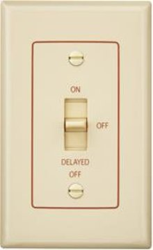 Fan/Light Control with off delay. 4 amps, 120V, Ivory