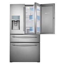 """36"""" Wide, 30 cu. ft. Capacity 4-Door French Door Food ShowCase Refrigerator (Stainless Steel)"""