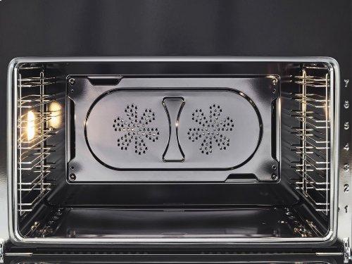 30 inch 5-Burner, Electric Oven Matt Black