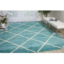 Brisbane Bri03 Aqua Rectangle Rug 3'2'' X 5'