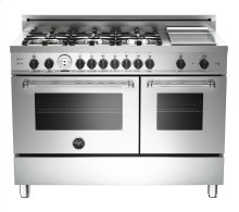 Stainless 48 6-Burner, Gas Double Oven